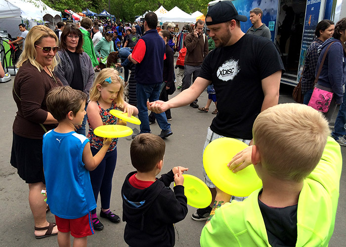 XDISC being demoed at the 2015 Boulder Creek Festival