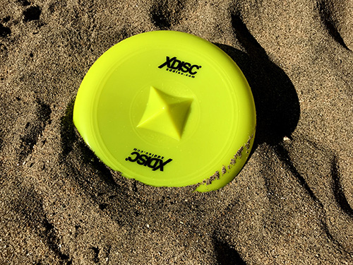 XDISC resting on a sandy beach in Mexico